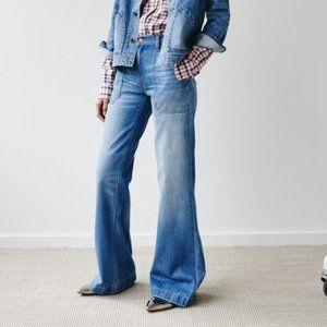 Madewell Wide-Leg distress Jeans in Shea Wash 27